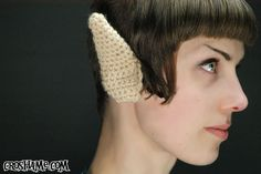 how to - crochet spock ears. or elf ears. or night elf ears if you make them… Crochet Geek, Crochet Amigurumi, Free Crochet, Knit Crochet, Crochet Hats, Quick Crochet, Crochet Clothes, Crochet Things, Crochet Animals