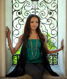 Spellbound: Kat stars as witch Bonnie Bennett on the Vampire Diaries