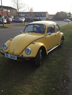 Mellow Yellow - VW classic Beetle. Spread a little sunshine (the UK needs it!)