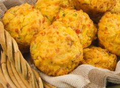 broccoli, ham, and cheese savoury muffins-YUMMY!!! (Sub whole wheat flour to make even healthier!!)