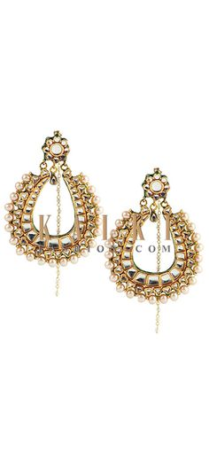 Buy Online from the link below http://www.kalkifashion.com/antique-pearl-chandbalis.html