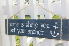 .I would love to paint our fence white and hang this sign on it. :)