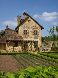 "Hameau de la Reine, ""The Queens Hamlet""  a rustic retreat in the park of the Château de Versailles built for Marie Antoinette"