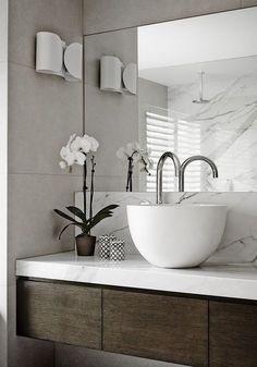 Choose the Latest Modern Sink Collection of the Highest Quality for Your Home's Main Bathroom – Home of Pondo – Home Design – Marble Bathroom Dreams Diy Bathroom Decor, Bathroom Inspo, Bathroom Furniture, Bathroom Inspiration, Bathroom Interior, Kitchen Decor, Bathroom Stools, Bathroom Ideas, Bathroom Pics