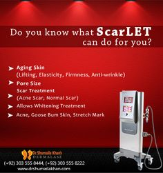 You name it and we have it. #ScarLet is used to stimulate collagen formation in order to improve; Saggy Skin, Jowl/Neck Tightening, Wrinkles, Acne Scars, Large Pores, Stretch Marks & Pigmentation. Minimal downtime, no pain and great safety profile make this treatment very popular among patients with all skin types. This treatment is safe on all skin types, and results appear almost immediately with continued improvement over a course of weeks. Book Your Appointment NOW