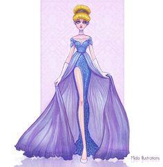 Princesas Disney no tapete vermelho - Just Lia Disney Princess Fashion, Disney Princess Cinderella, Disney Princess Drawings, Disney Princess Dresses, Disney Dresses, Disney Drawings, Disney Style, Drawing Disney, Pocahontas Disney