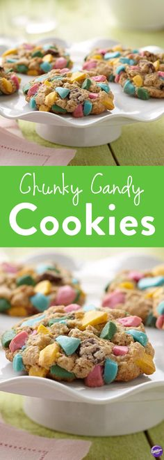 How to Make Chunky Candy Cookies - Your kids will not be able to resist these chocolate chip cookies studded with colorful chunks of Wilton Candy Melts Candy! Create these eye-catching treats using your favorite colors.