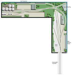 N Scale Model Trains, Model Train Layouts, Scale Models, Ho Scale Train Layout, Model Training, Model Railway Track Plans, Ho Trains, Train Tracks, Design Model