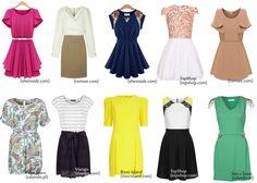 DRESSES FOR A PEAR SHAPED BODY, sukienki dla gruszki