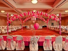 Reception hall decoration wedding ideas pinterest for Balloon decoration for quinceanera