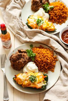 Easy Stuffed Poblano Peppers Plate