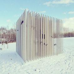 Rusty Blakey Commemorative Sculpture at Science North in Greater Sudbury... find Momo.