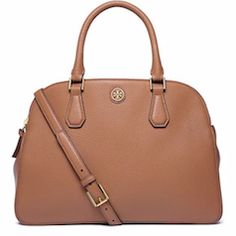 Brown leather Tory Burch tote bag