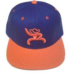 c4411c73172 HOOey Cap Rebel Royal Blue Orange Snapback Trucker Cap Cowboy Cap