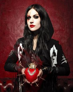 """x–daughters-of-darkness–x: """"Cristina Scabbia by Cunene Art """""""