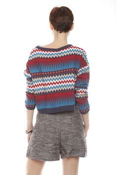 Blue Sound Wave Sweater