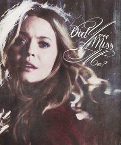 "Alison- Pretty Little Liars """" Did you miss me"" @Sasha Pieterse"