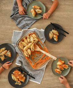 Stuffed Shells with Roasted Butternut and Red Pepper Sauce