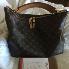 STOLEN***Louis Vuitton Sully Pm This bag was stolen from me by @nicoledali on here. Pls if you see it posted don't buy and contact the police. There is a federal investigation pending over this and other things she has stolen and scammed. Date code CA1192 I LOVE this bag, just need a bigger one. Would love to trade for a Sully MM. In beautiful condition. Small marks on handle as seen in pics. Can take addition pics if needed. Other arrangements can be made for payments for cheaper price…