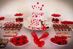 Decoração de mesa Minnie Mouse Baby Shower, Candy Buffet, Marry Me, Valentines, Holiday Decor, Rose, Birthday, Party, Diy