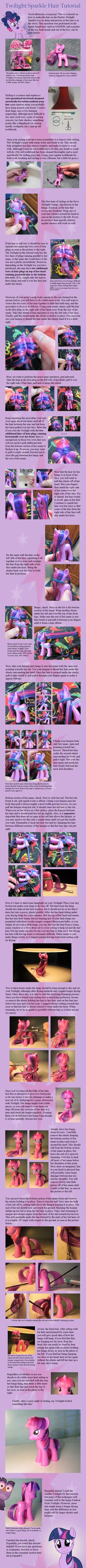 Twilight Sparkle Hair Tutorial by countschlick.deviantart.com