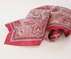 Vintage Royal Scarf by crepe royal  Burgundy Square by soStyle, $10.00