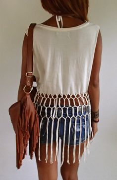 Native American Style Festival Top with knotted от SpellMaya