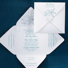 Seaside Treasures Self-Mailer Wedding Invitation 40% OFF  |  http://mediaplus.carlsoncraft.com/Wedding/Wedding-Invitations/3148-KEMD13187-Seaside-Treasures-SelfMailer-Invitation.pro