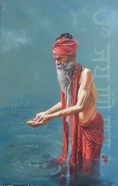Buy Sadhu Painting at Lowest Price by Satyabrata Karmakar Indian Artwork, Indian Paintings, Paintings For Sale, Om Namah Shivaya, Human Sketch, Meditation Art, Painting Competition, India Art, Indian Artist