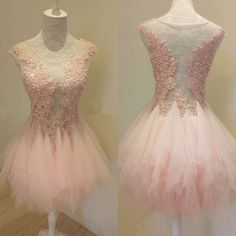 Charming Prom Dress,Tulle Pink Prom Dress,Elegant Prom Party