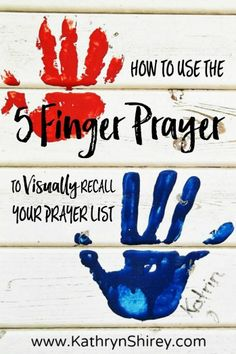 Have trouble keeping up with your prayer list? Use this 5 Finger Prayer to visually recall key groups of people to include in your prayers. Great for kids!