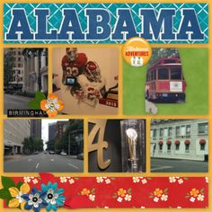 Bundled Goodies :: Travelogue Alabama - Bundle Pack by Connie Prince Travelogue, Birmingham, Alabama, Goodies, Prince, Packing, Layout, Messages, Memories