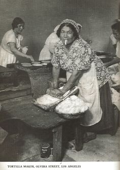 Making tortillas, Olvera Street, Los Angeles, CA. 1939