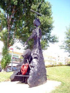 Iron Sculpture outdoor by Kim Prisu # Art # Artist #kimprisu #artkimprisu #portugal