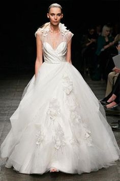 Flowers Illusion Wedding Dress From Alvina Valenta Spring 2013