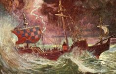 The Storm. Illustrated by Charles H. Buchel, Prospero conjures a storm. The Tempest Shakespeare, William Shakespeare, Off The Map, Twelfth Night, Monologues, Epoch, Amazing Quotes, The Conjuring, Scene