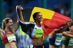 Nafissatou Thiam after winning the heptathlon at the Rio 2016 Olympic Games…