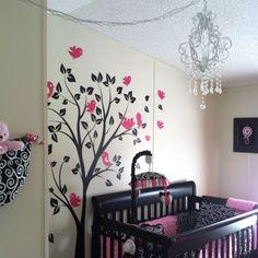 My favorite tree mural so far for baby's room Girl Nursery, Girl Room, Baby Room, Baby Lane, Baby Corner, Princess Room, Nursery Themes, Bedroom Wall, Beautiful Babies