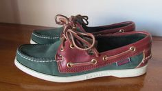 Vintage Sebago Docksides Docksiders Loafers // Boat shoes // Sailor // Preppy // Nautical // Shoes // Kelly by glamtownvintage on Etsy