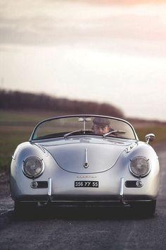 This Porsche 356 Speedster was born a timeless classic. Classic Sports Cars, Bmw Classic Cars, Porsche Classic, Vintage Porsche, Vintage Cars, Vintage Photos, Porsche 356 Speedster, Porsche 356a, Porsche Cars