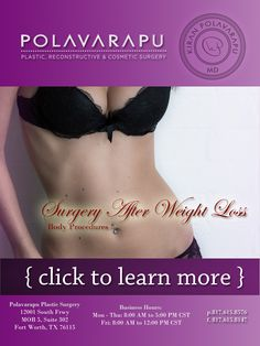 Polavarapu Plastic Surgery Body Procedure If you have lost a massive amount of weight and find that you have problems with excess skin and sagging tissue in one or many. Plastic Surgery Procedures, Sagging Skin, Body Contouring, Slim Body, Body Shapes, Body Care, Lost, Weight Loss, Pinterest Projects