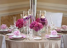 Soft and Romantic Purple Tabletop and Bouquet - Southern Bride & Groom