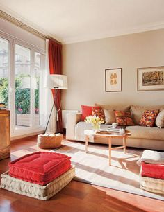 The Downside Risk Of Best And Eye Popping Red Living Room Color Schemes 20 - casitaandmanor Red Living Room Decor, Sitting Room Decor, Beige Living Rooms, Indian Living Rooms, Living Room Color Schemes, Beautiful Living Rooms, Living Room Colors, Living Room Sofa, Home Living Room