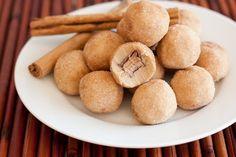 Rolo Stuffed Snickerdoodle Cookie Dough Bites :)