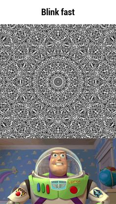 Optical illusion: Click on this to get full-size image and then blink rapidly while staring at it.
