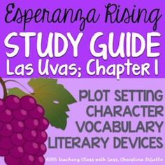 Higher-level thinking questions that prompt students to investigate CHARACTERS, VOCABULARY, SYMBOLISM, & PLOT. Great for practice with CITING TEXTUAL REFERENCES.Answer key included***LOOKING FOR MORE? This is a part of my bundled ULTIMATE ESPERANZA RISING TEACHING UNIT.https://www.teacherspayteachers.com/Product/Esperanza-Rising-PowerPoint-Guided-Notes-Common-Core-Aligned-458972Enjoy this classy & sassy product!With love,Teaching Class with Sass:
