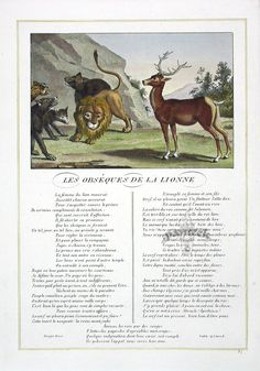 Fables of La Fontaine 1834 Art Techniques, Moose Art, Illustration, Movie Posters, Animals, Libros, Storytelling, Children, Animales