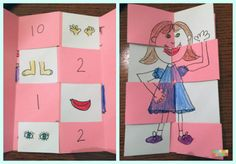 """Here is a tutorial on how to make a really COOL foldable """"Surprise Book"""" that's great for kids from Pre-K to third grade or even higher! It is adaptable to ANY subject matter, AND it is fun to make. Lap Books, Story Elements, Emergent Readers, Classroom Rules, Parts Of Speech, Compare And Contrast, Letter Recognition, Fifth Grade, 100 Days Of School"""
