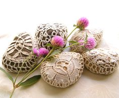 stones covered in lace