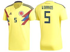 119e3b30a 2018 World Cup Colombia Soccer Home Jersey Shirt wilmar barrios Soccer  Kits